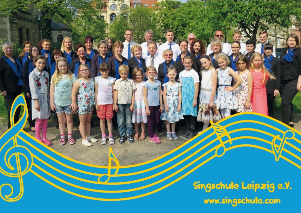 Mitglieder der Singschule Leipzig e. V. am 21.04.2018